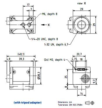 mv-vdm小型 usb3.0接口高速工业数字相机
