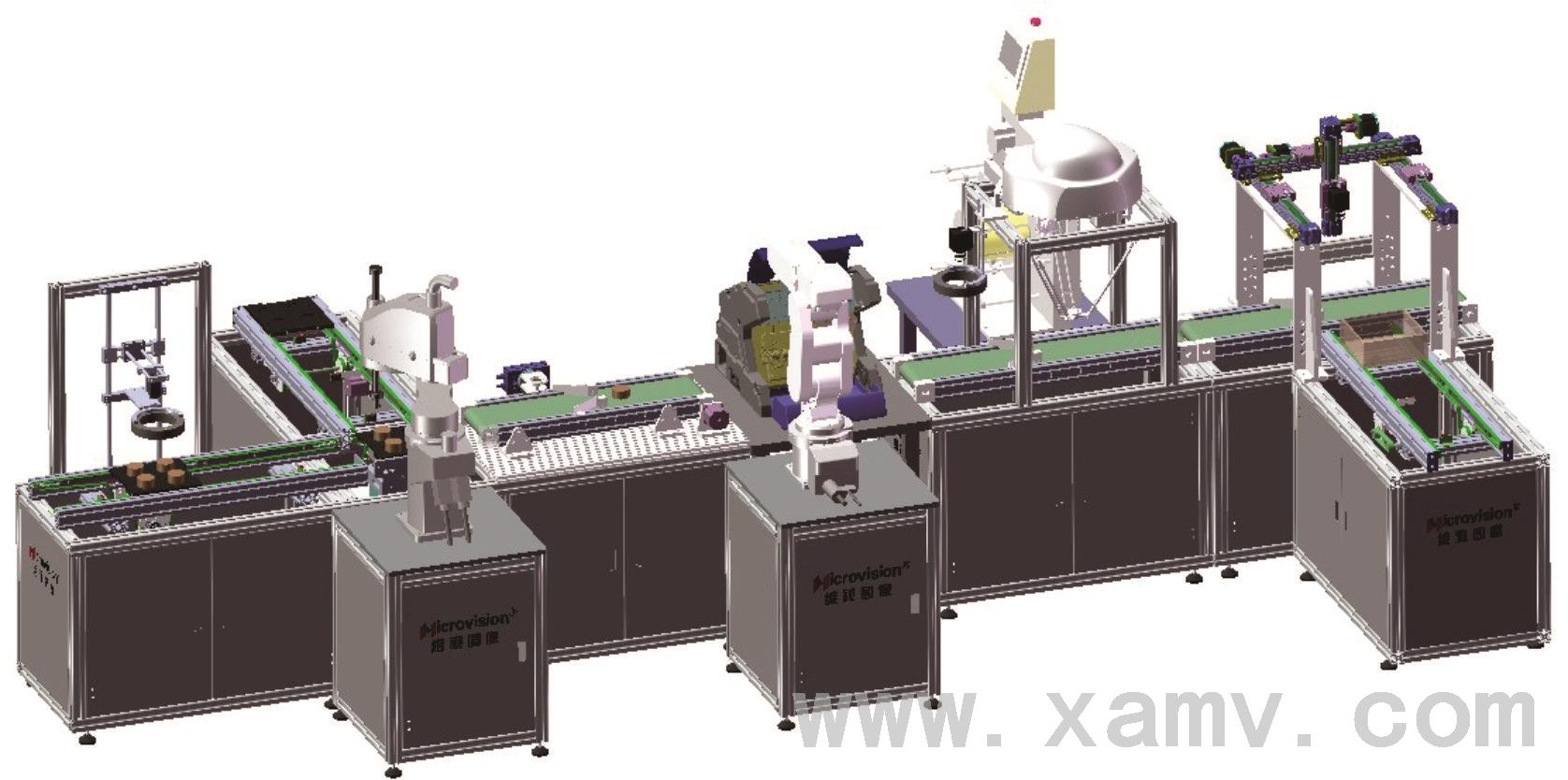 1. 系统集成度高 该系统将机械、气动、电气控制、电机传动、智能检测、视觉定位识别、四轴工业机器人、六轴工业机器人、并行机器人、三轴直角坐标机器人、NC数控系统、PLC以及工业网络控制技术有机地进行整合。 2. 使用便利 采用模块化结构设计,各组成模块组合方便;不仅可以拆开进行各类单线技能训练还可以快速组合,进行综合性项目训练。最大程度的地满足了实训教学、工程训练的需求。 3.