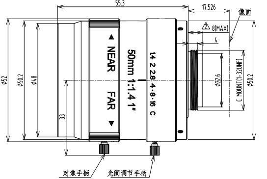 BT-10C5014MP工业镜头
