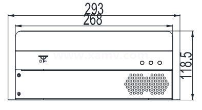 SVC500增強型嵌入式智能視覺系統外形尺寸