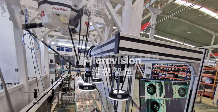 机械手视觉系统酒瓶检测应用案例